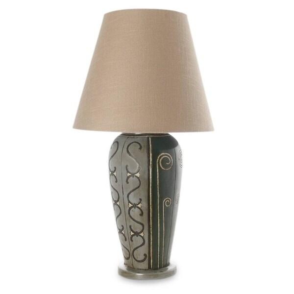 Handmade Ceramic 'Jalisco Light' Table Lamp (Mexico)