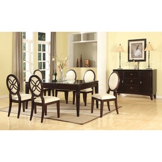 Baxton Studio Vandegriff Brown and Ivory 8-Piece Modern Dining Set