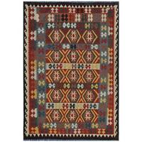 Herat Oriental Afghan Hand-woven Wool Kilim - 5'5 x 8'2