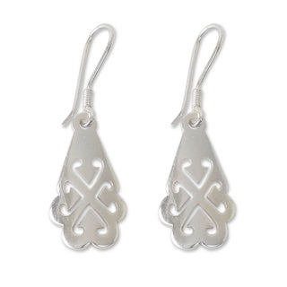 Handcrafted Sterling Silver 'Tree of God' Earrings (Ghana)