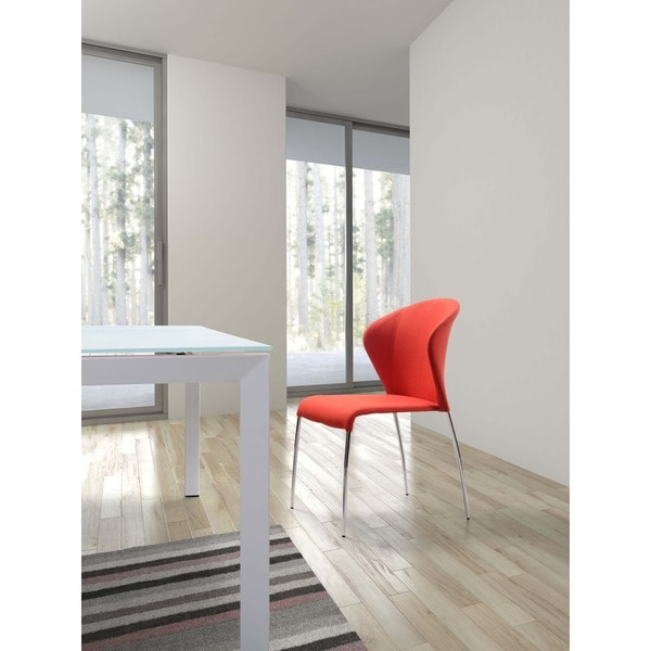 Oulu Steel and Tangerine, Graphite, or Pea Fabric Chair (set of 2)