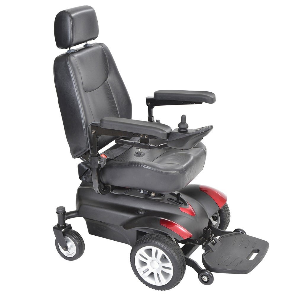 Drive Medical Titan Front Wheel Power Wheelchair - Black (16 x 18)