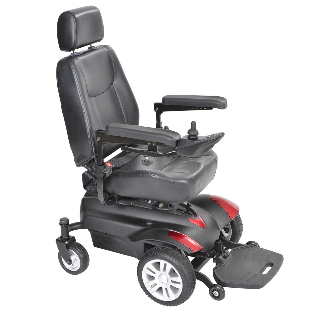 Drive Medical Titan Front Wheel Power Wheelchair - Black (16 x 16)