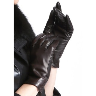 Women's Soft Italian Lambskin Leather Gloves