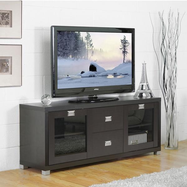 baxton studio foley dark brown tv stand