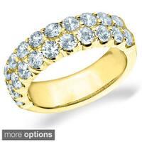 Amore 14k White or Yellow Gold 2ct TDW Double Row Diamond Ring