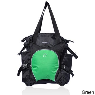 Obersee Innsbruck Diaper Bag Tote and Bottle Cooler (Option: Green)