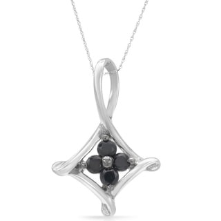 Sterling Silver 1/5ct TDW Black Diamond Necklace