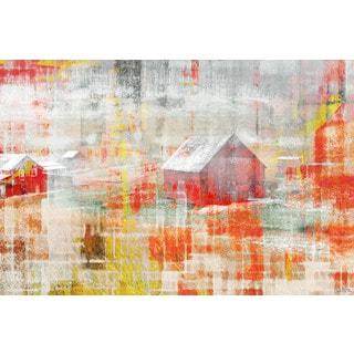 Parvez Taj 'Red Barn' Canvas Art Print