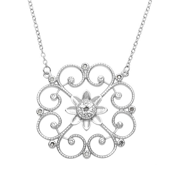 10ct Tdw Diamond Floral Circle