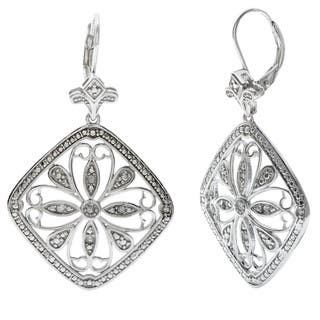 La Preciosa Sterling Silver 1/10ct TDW Diamond Bezel-set Earrings|https://ak1.ostkcdn.com/images/products/8654669/P15914579.jpg?impolicy=medium