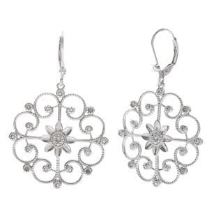 La Preciosa Sterling Silver Diamond Earrings (I-J, I2-I3)