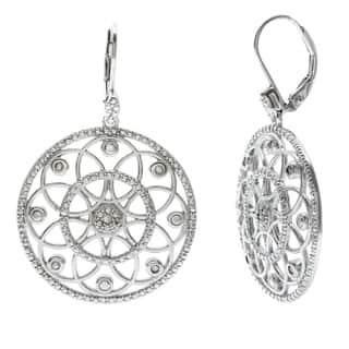 La Preciosa Sterling Silver 1/10ct TDW Diamond Circle Earrings|https://ak1.ostkcdn.com/images/products/8654675/La-Preciosa-Sterling-Silver-1-10ct-TDW-Diamond-Circle-Earrings-I-J-I2-I3-P15914581.jpg?impolicy=medium
