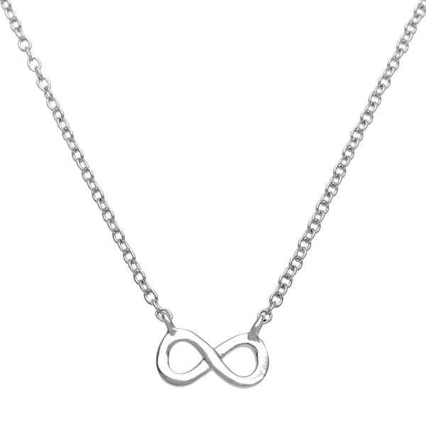 La Preciosa Sterling Silver Small Infinity Figure 8 Necklace