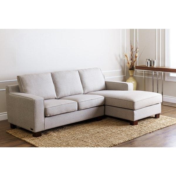 Abbyson Beverly Grey Fabric Sectional Sofa Free