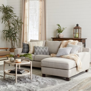 Exceptionnel Sectional Sofa With Chaise In Light Grey