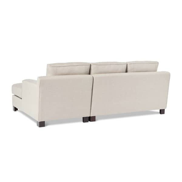 Marvelous Shop Abbyson Sectional Sofa With Chaise In Light Grey On Inzonedesignstudio Interior Chair Design Inzonedesignstudiocom