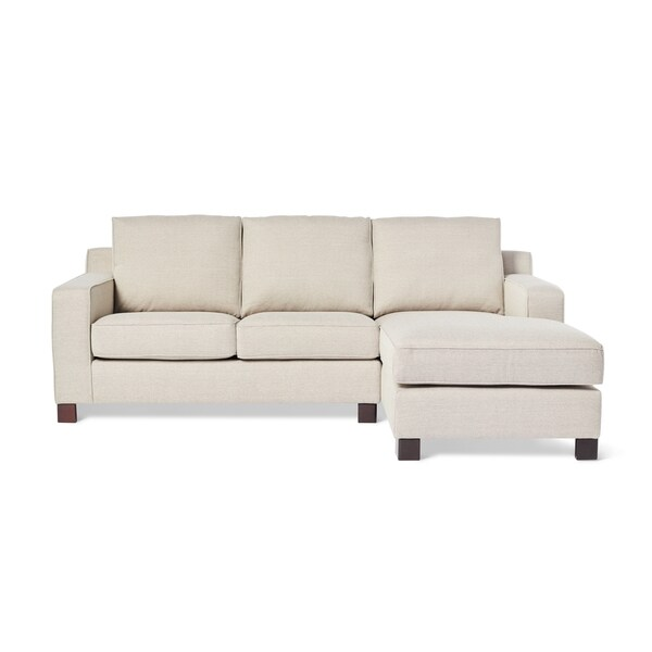 Sectional Sofa with Chaise in Light Grey - Free Shipping Today - Overstock.com - 15914592  sc 1 st  Overstock : grey sofa chaise - Sectionals, Sofas & Couches