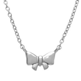 La Preciosa Sterling Silver Small Bow Necklace