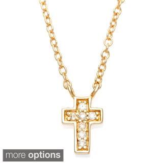 La Preciosa Sterling Silver Small Cross Necklace