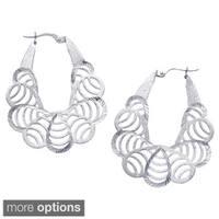 La Preciosa Sterling Silver Diamond-cut Lightweight Earrings