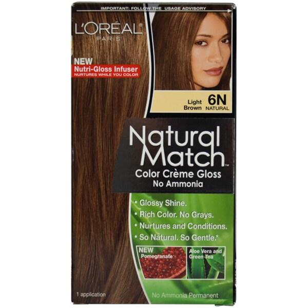 Shop L Oreal Paris Natural Match 6n Light Brown Hair Color