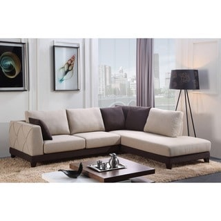 Abbyson 'Verona' Fabric Sectional Sofa