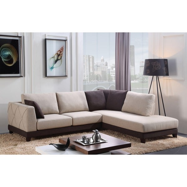 Abbyson u0026#x27;Veronau0026#x27; Fabric Sectional Sofa  sc 1 st  Overstock.com : sectional sofa overstock - Sectionals, Sofas & Couches