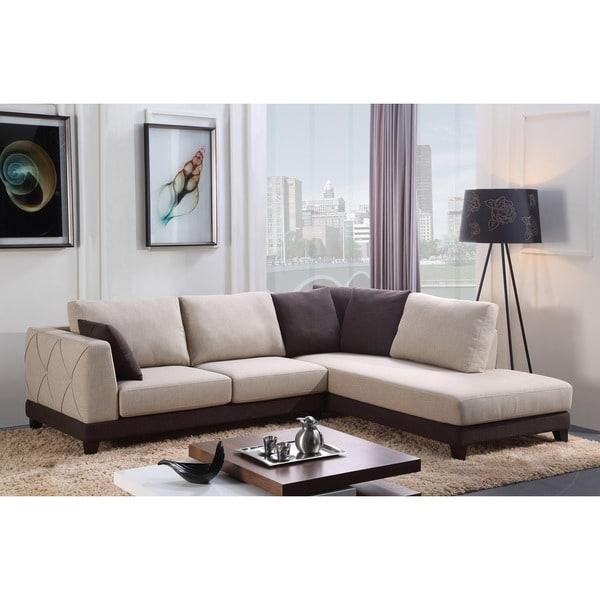 Abbyson Sectional Sofa: Shop Abbyson 'Verona' Fabric Sectional Sofa