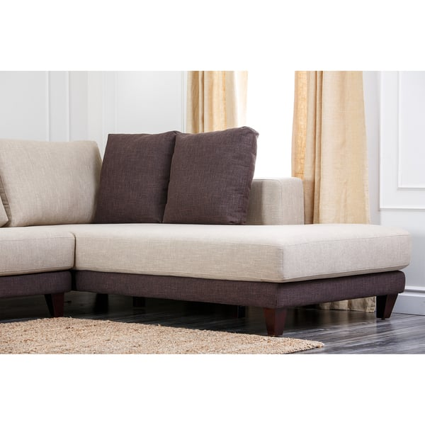 Fantastic Shop Abbyson Verona Fabric Sectional Sofa On Sale Free Caraccident5 Cool Chair Designs And Ideas Caraccident5Info