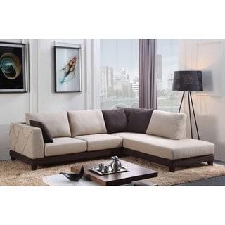 Abbyson U0027Veronau0027 Fabric Sectional Sofa