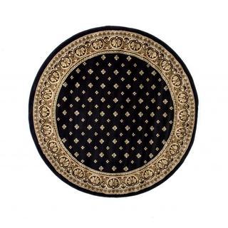 Dallas Formal Black Round Rug (5'3)