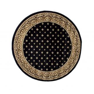 Well Woven Dallas Formal Black Round Rug - 5'3