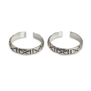 Handmade Set of 2 Sterling Silver 'X-treme Beauty' Toe Ring (Thailand)