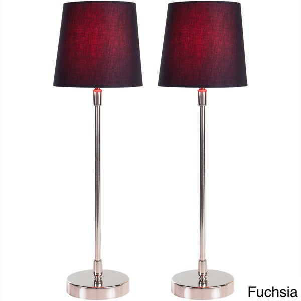 Filament Hand Assembled Metal Table Lamps (Set of 2)