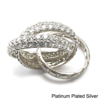 Sonia B Gold Plated Sterling Silver Cubic Zirconia Mon Ami Rolling Ring (More options available)