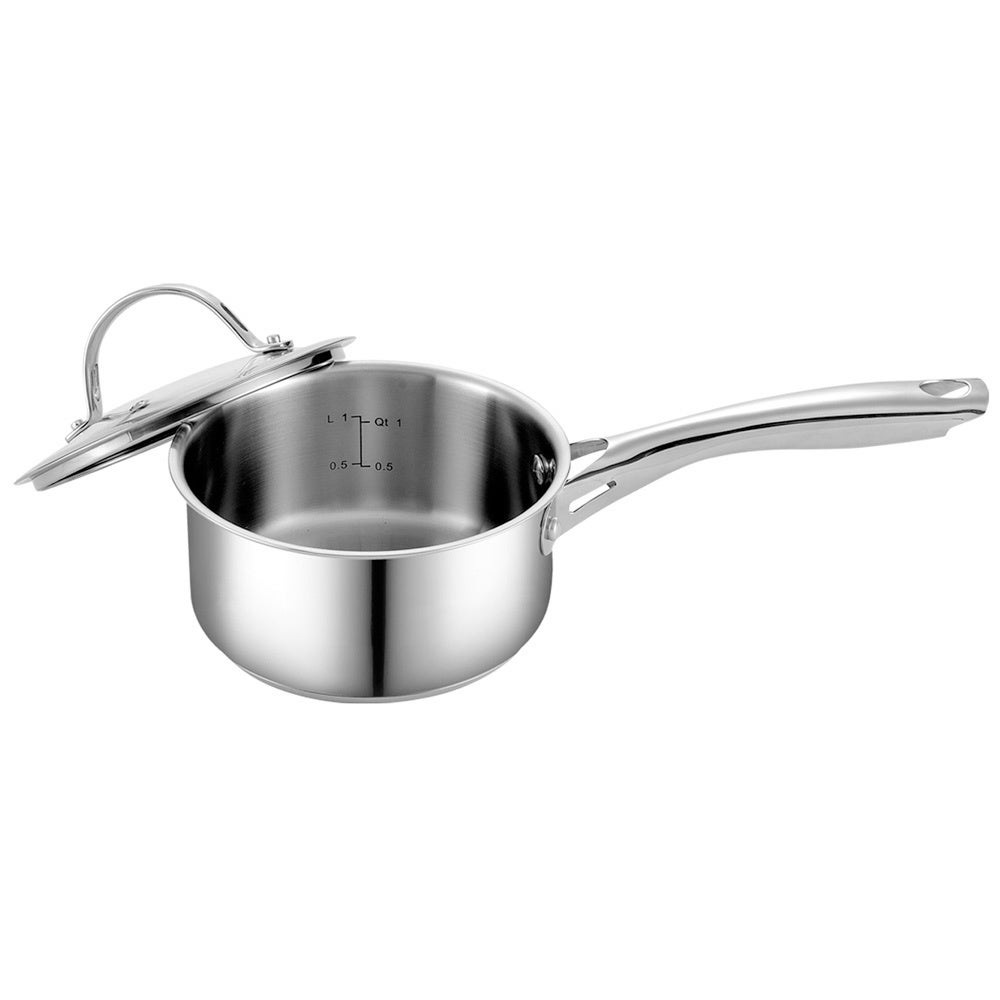 Cooks Standard 1.5 qt. Stainless Steel Saucepan with Lid ...