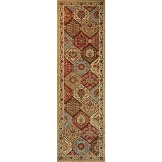 Victorian Panel Ivory Runner Rug (2'3 x 7'3)