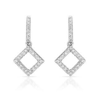14k White Gold 1/5ct TDW Diamond Earrings (H-I, SI1-SI2)