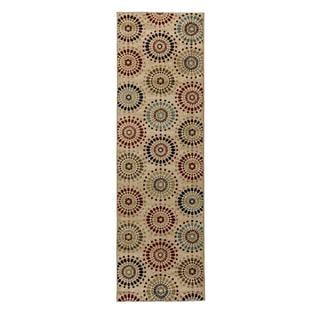 Rodeo Drive Ivory Runner Rug (2'3 x 7'3)
