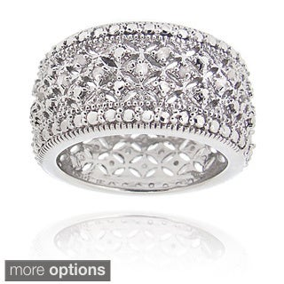 DB Designs Diamond Accent Wide Band Ring (More options available)