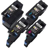 Dell C1660 Black, Cyan, Yellow, Magenta Compatible Toner Cartridges (Pack of 4)