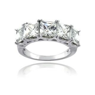 Icz Stonez Sterling Silver 7 1/4ct TGW Cubic Zirconia Half Eternity Ring