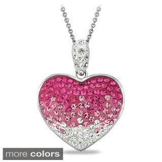 Crystal Ice Crystal Heart Necklace with Swarovski Elements