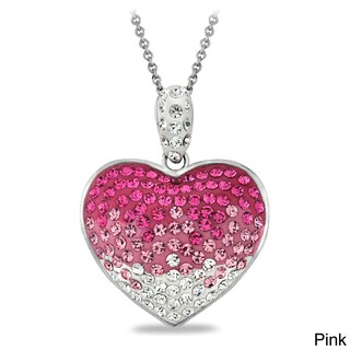 Crystal Ice Crystal Heart Necklace with Swarovski Elements (3 options available)