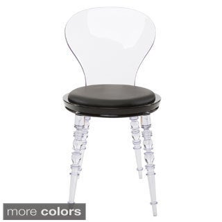 American Atelier Design Guild Living 'Wynona' Modern Transparent Legged Dining Chair