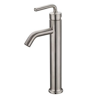 Elite Brushed Nickel New Design Single Lever Bathroom Vessel Sink Faucet