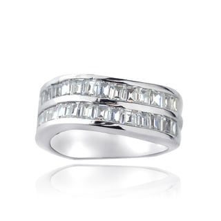 ICZ Stonez Sterling Silver 4 1/2ct TGW Channel-set Cubic Zirconia Eternity Ring