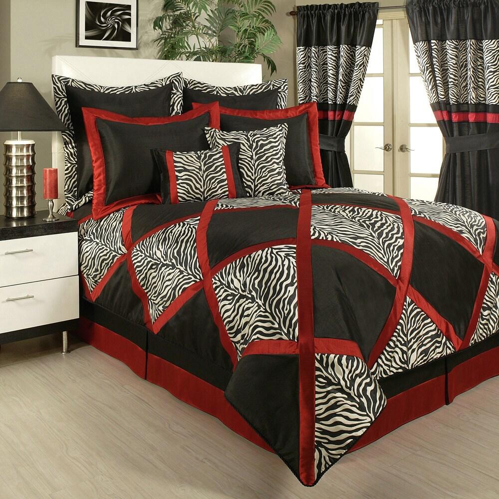Sherry Kline True Safari Black 4-piece Bedding Collection...
