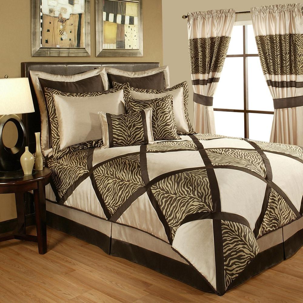 Sherry Kline True Safari Taupe 4-piece Bedding Collection...